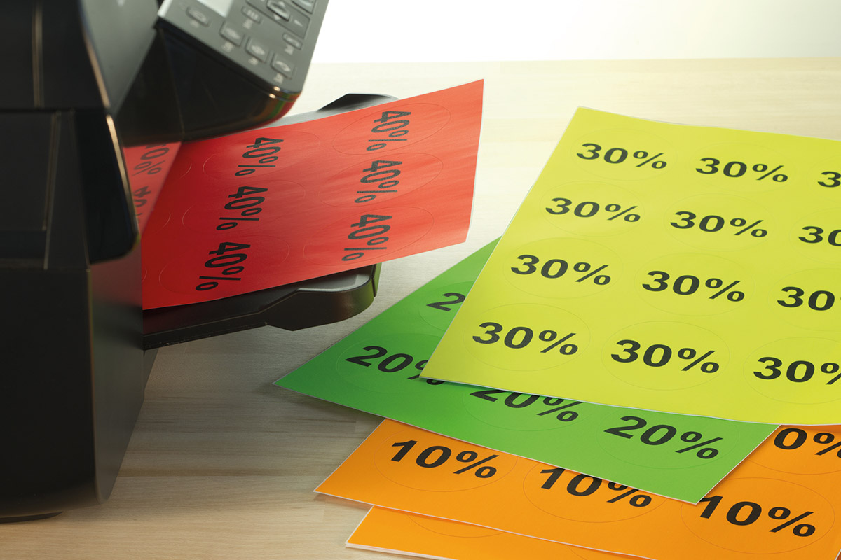 Green /& Yellow Blue Choose from Red Blank Sheets Coloured A4 Printer Labels